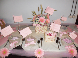 baptism pink sweet table