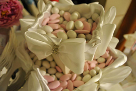 sugared almonds for wedding sweet table