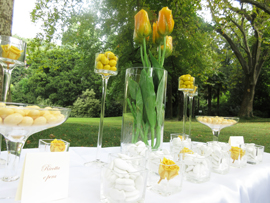sweet table in the garden
