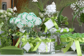 green sweet table