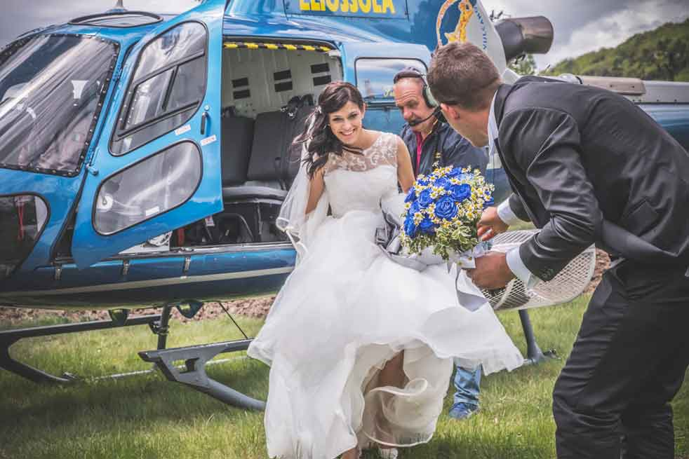wedding helicopter lake maggiore
